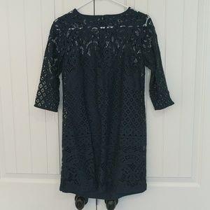 Loft Navy Lace Dress